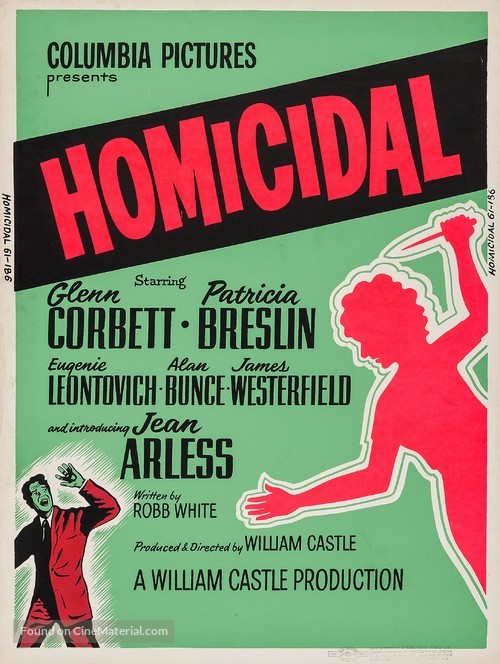 Homicidal - Movie Poster