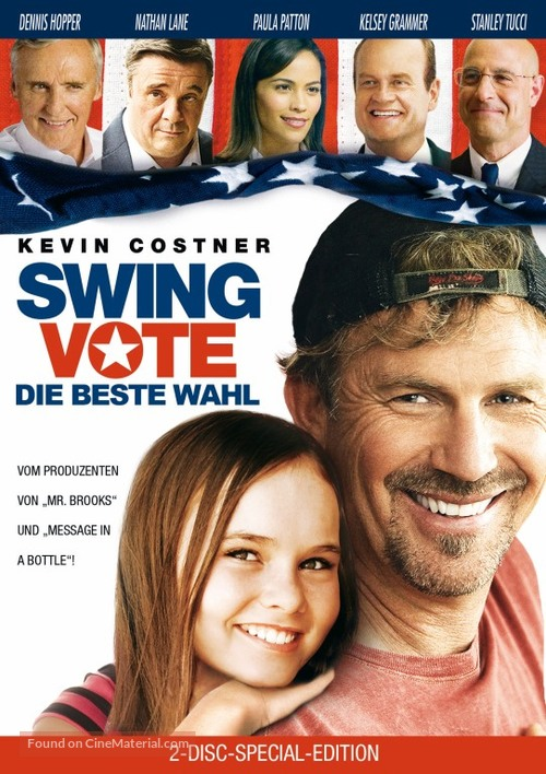 swing vote Directed by joshua michael stern with kevin costner, paula patton, kelsey grammer, madeline carroll in a remarkable turn-of-events, the result of the presidential election comes down to one man's vote.