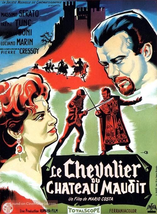 Il cavaliere del castello maledetto - French Movie Poster