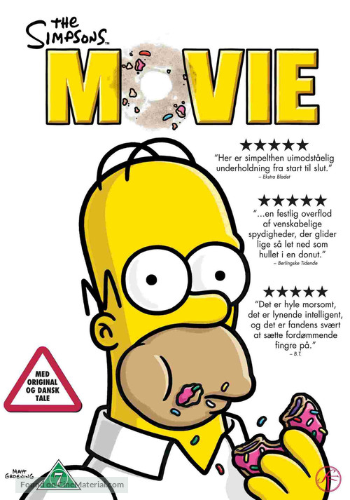 The Simpsons Movie - Danish Movie Cover