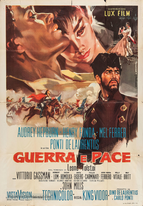 War and Peace - Italian Movie Poster