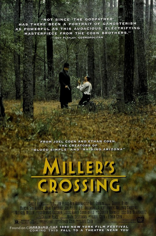 Miller's Crossing - Advance movie poster