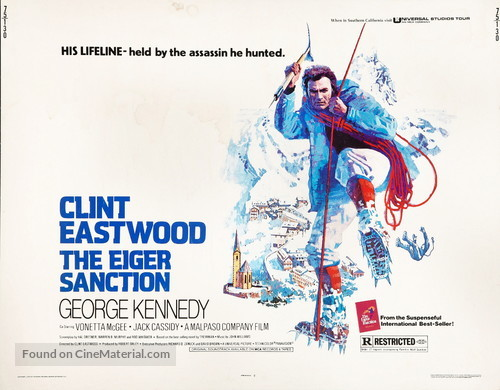 The Eiger Sanction - British Movie Poster
