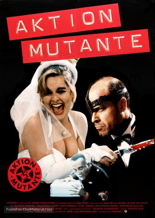 Acción mutante - German Movie Poster