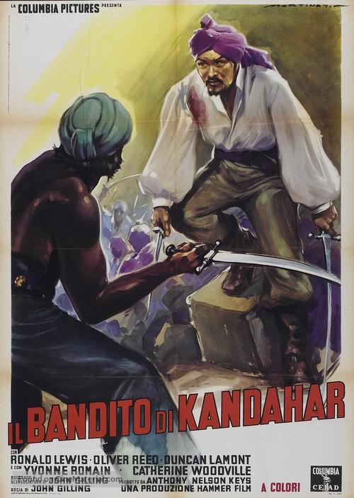 The Brigand of Kandahar - Italian Movie Poster