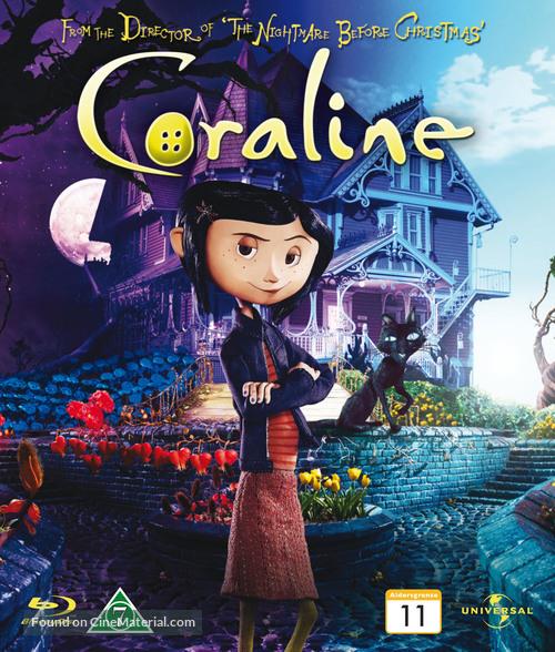 Coraline - Danish Blu-Ray movie cover