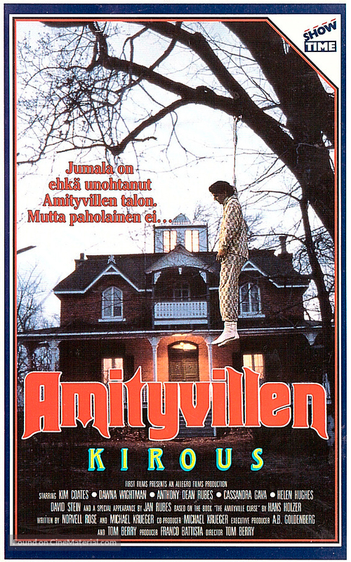 The Amityville Curse - Finnish VHS movie cover
