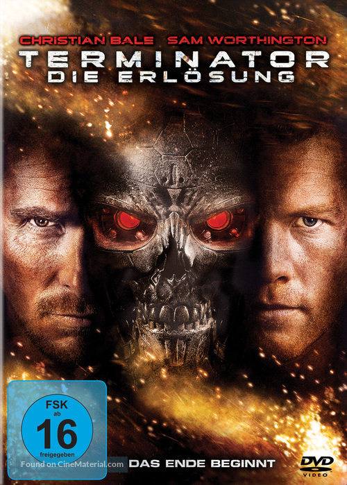 Terminator Salvation - German DVD cover
