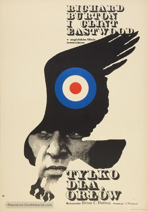 Where Eagles Dare - Polish Theatrical movie poster