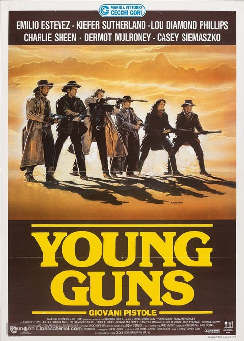 Young Guns - Italian Movie Poster