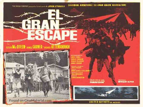 The Great Escape - Mexican Movie Poster