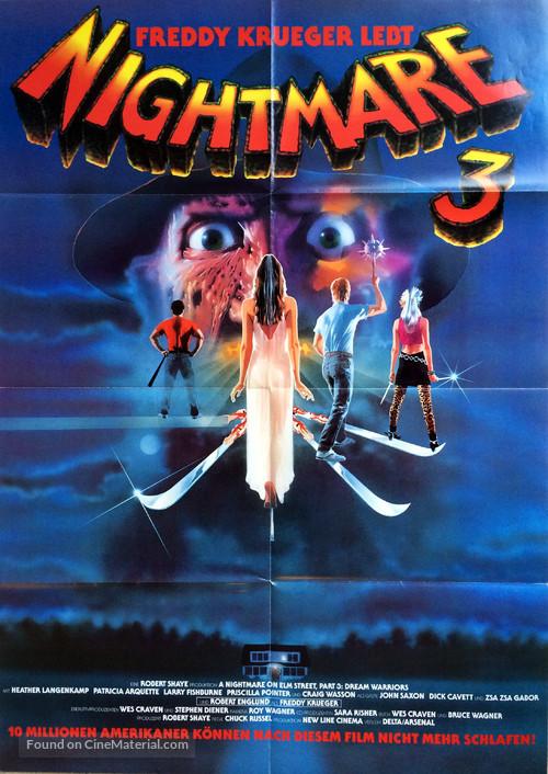 A Nightmare On Elm Street 3: Dream Warriors - German Movie Poster