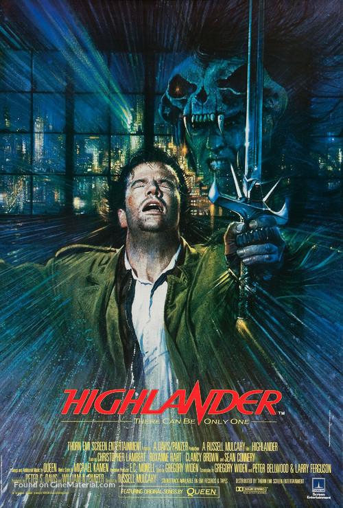 Highlander - British Movie Poster