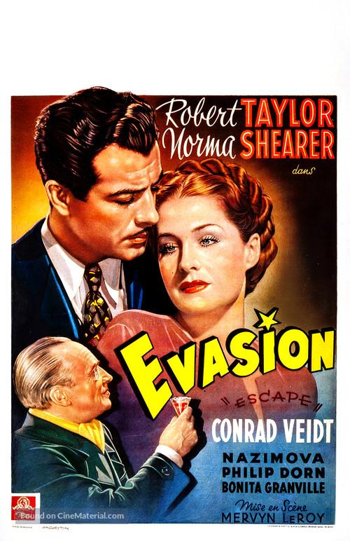 Escape - Belgian Movie Poster