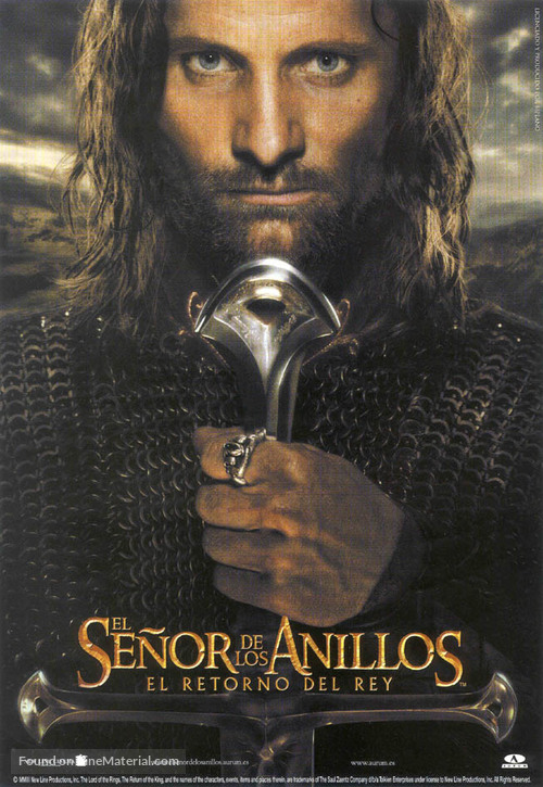 The Lord of the Rings: The Return of the King - Spanish Movie Poster