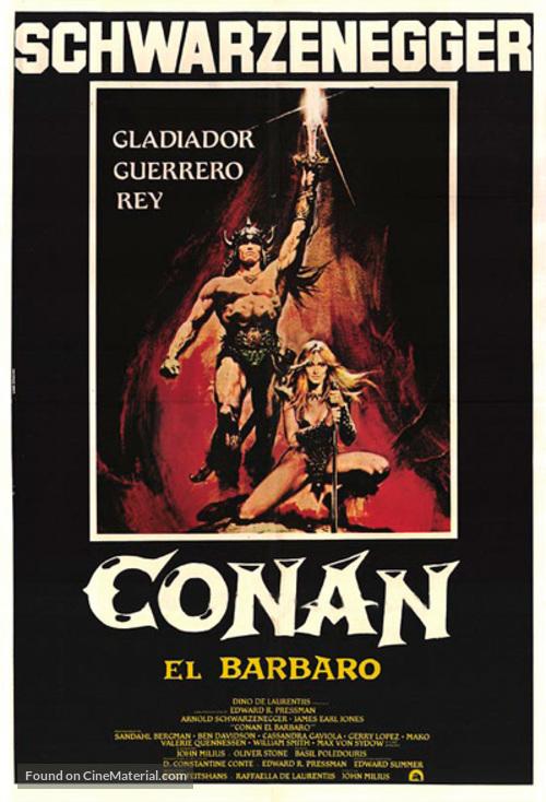 Conan The Barbarian - Mexican Movie Poster