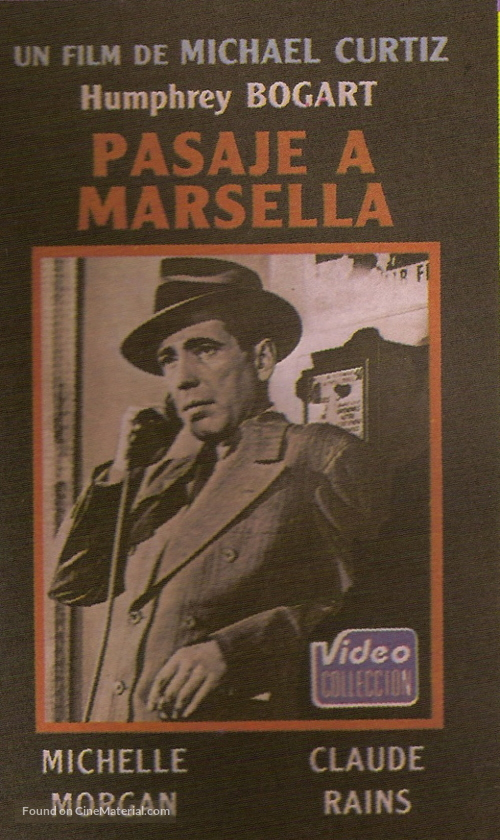Passage to Marseille - Argentinian VHS movie cover