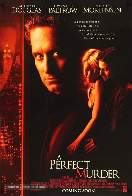 A Perfect Murder - Movie Poster