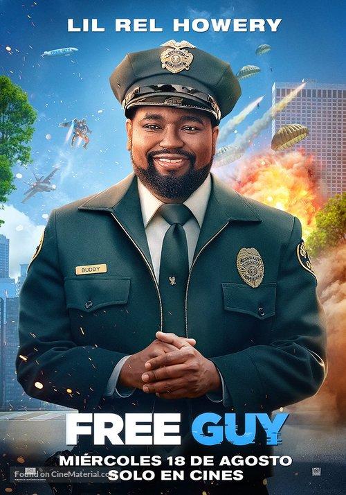 Free Guy - Spanish Movie Poster