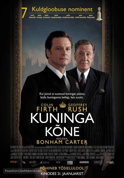 The King's Speech - Estonian Movie Poster