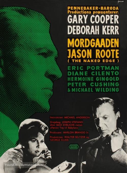 The Naked Edge - Danish Movie Poster