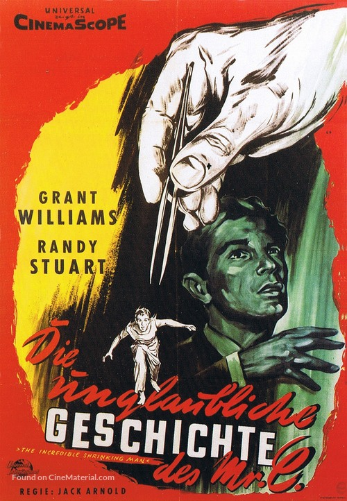 The Incredible Shrinking Man - German Movie Poster