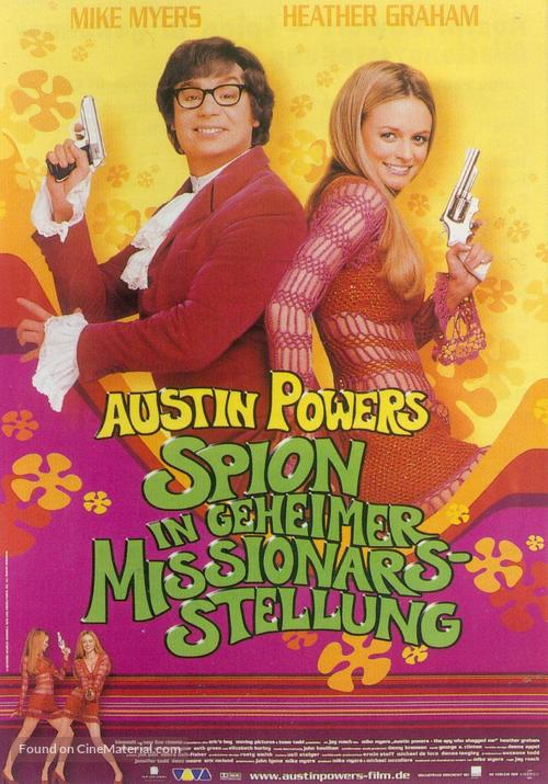 Austin Powers: The Spy Who Shagged Me - German Movie Poster