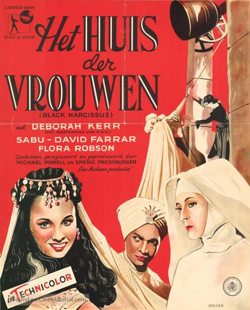 Black Narcissus - Dutch Movie Poster