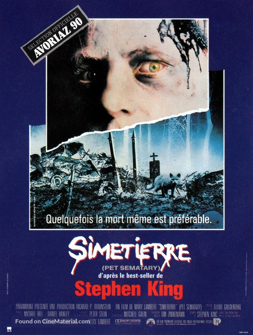 Pet Sematary - French Movie Poster