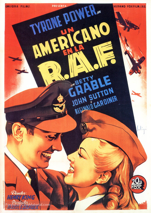 A Yank in the R.A.F. - Spanish Movie Poster