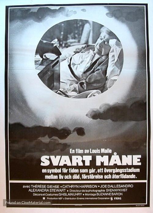 Black Moon - Swedish Movie Poster