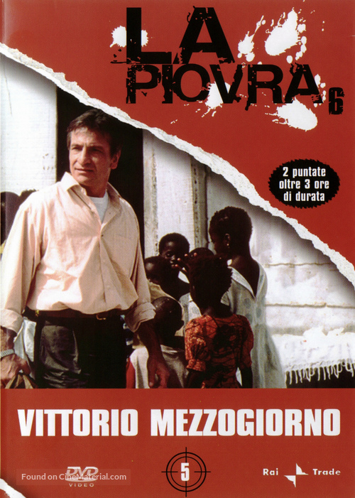 """La piovra 6 - L' ultimo segreto"" - Italian DVD movie cover"