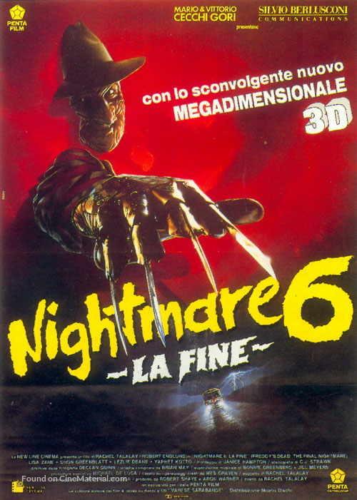 Freddy's Dead: The Final Nightmare - Italian Movie Poster