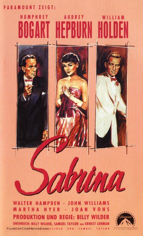 Sabrina (1954) German movie poster