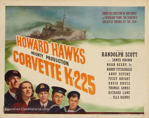Corvette K-225 - Movie Poster