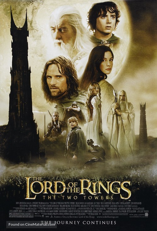 The Lord of the Rings: The Two Towers - Movie Poster