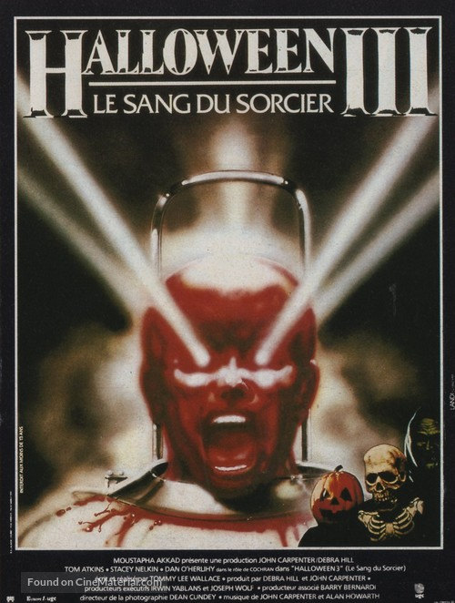 Halloween III: Season of the Witch - French Movie Poster