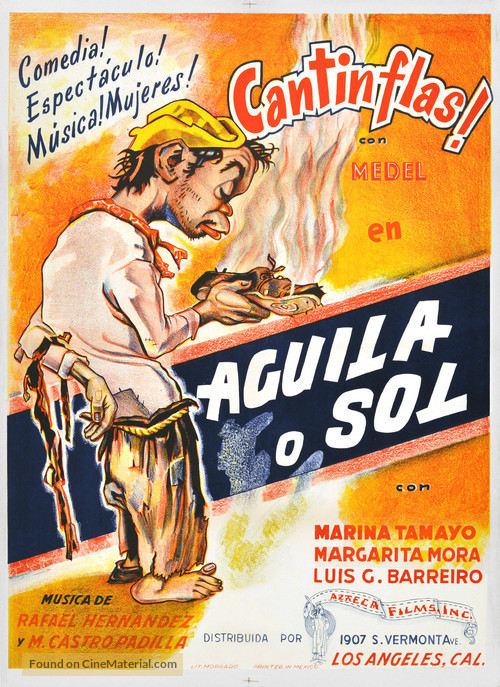 Águila o Sol - Mexican Movie Poster
