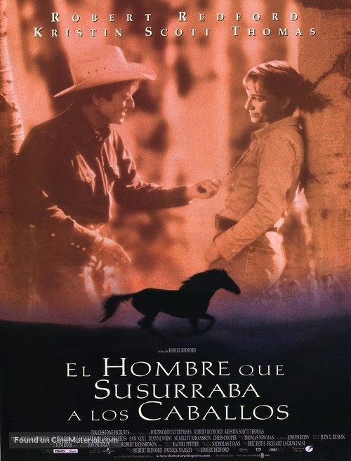 The Horse Whisperer - Spanish Movie Poster