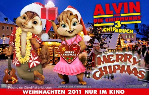 Alvin and the Chipmunks: Chipwrecked - German Movie Poster
