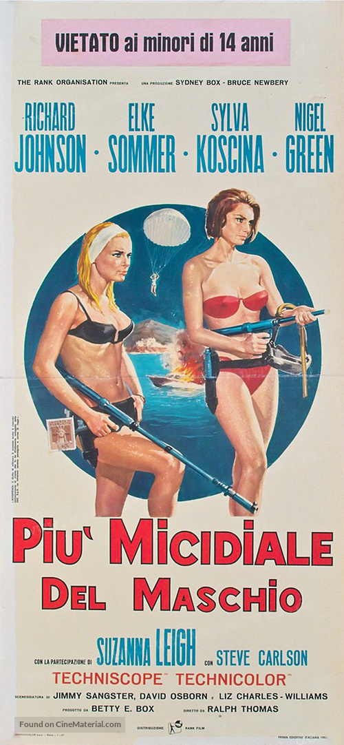 Deadlier Than the Male - Italian Movie Poster