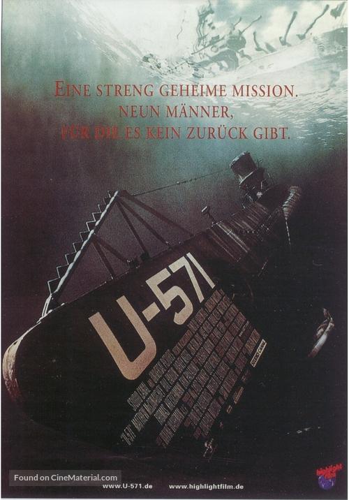 U-571 - German Movie Poster