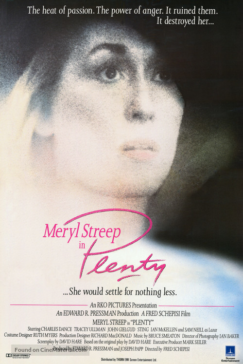 Plenty - British Movie Poster