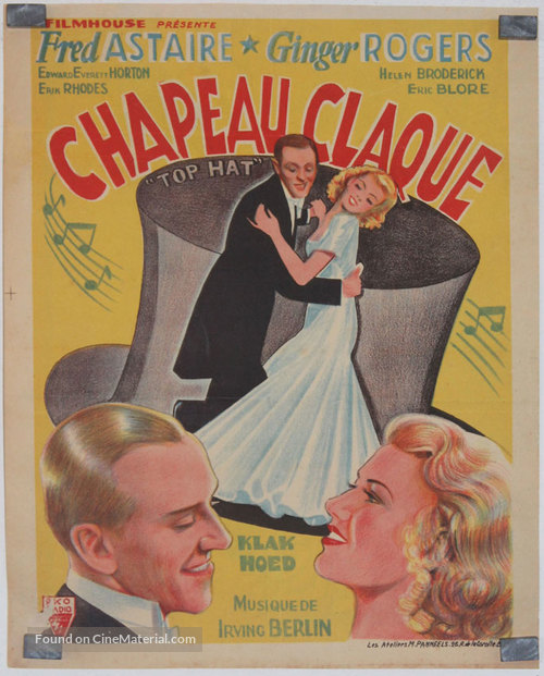Top Hat - French Movie Cover