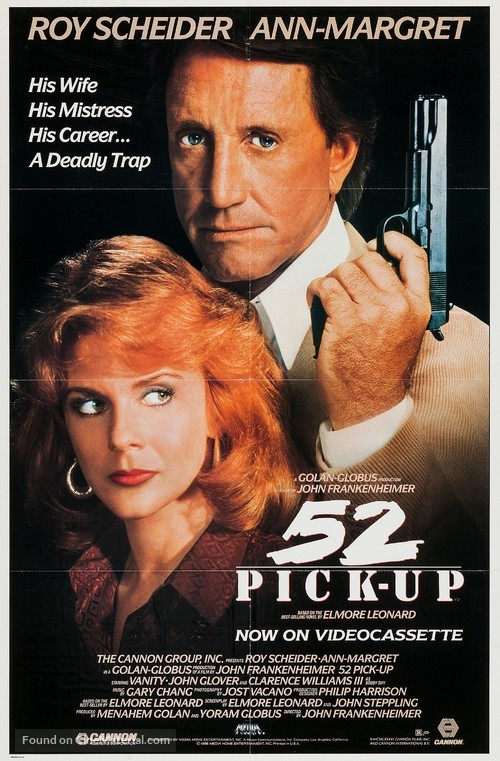 52 Pick-Up - Video release movie poster