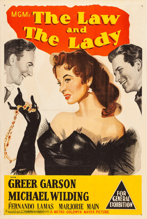The Law and the Lady - Australian Movie Poster