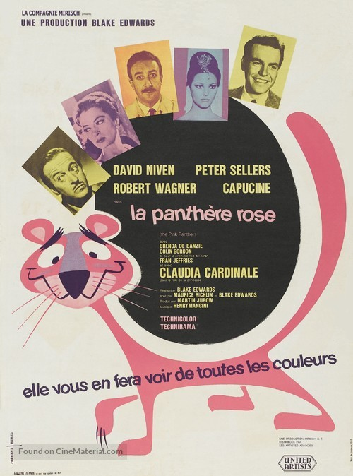 The Pink Panther - French Movie Poster