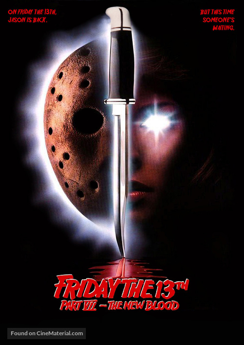 Friday the 13th Part VII: The New Blood - DVD movie cover