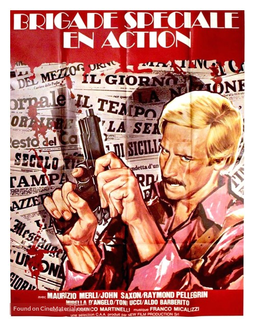Italia a mano armata - French Movie Poster