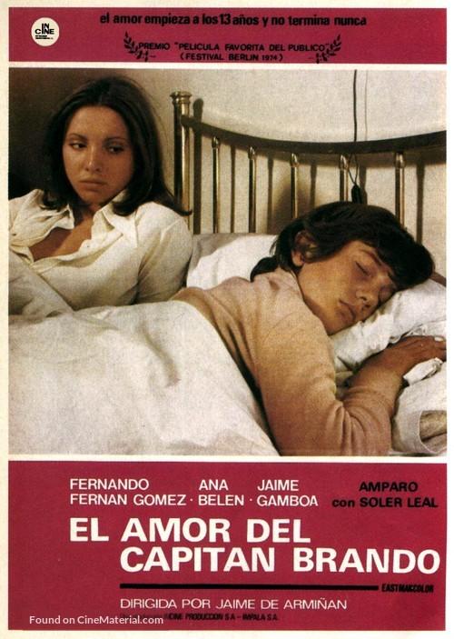 Amor del capitán Brando, El - Spanish Movie Poster